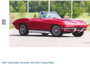 1967 Chevrolet Corvette 427/435 Convertible Photo Credit: Auctions America