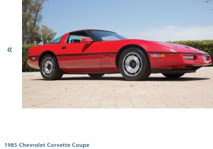 1985 Chevrolet Corvette Coupe - Photo Credit: Auctions America